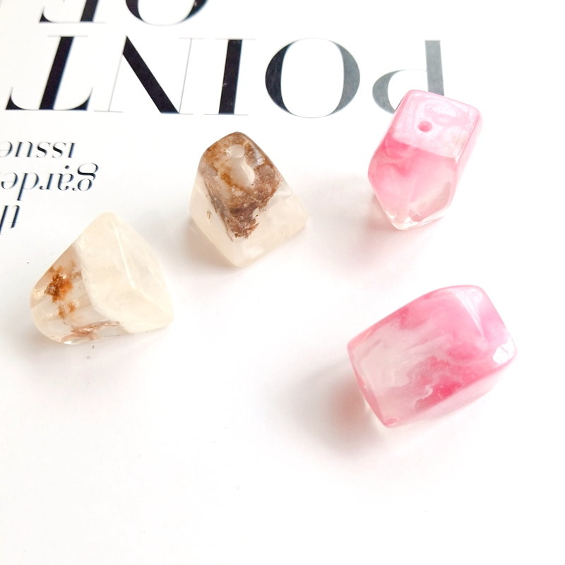 DIY Jewelry Accessories Resin Material Trapezoidal Crystal Amber Temperament Handmade Jewelry Earrings in Jewelry Findings Components from Jewelry Accessories