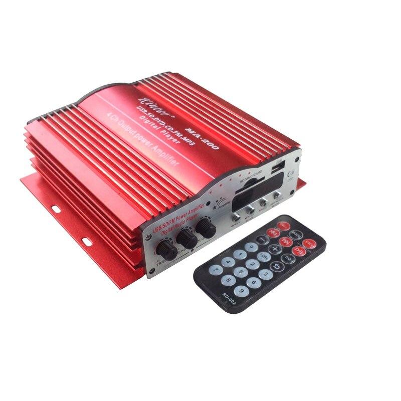 4CH 4 قناة المنزل سيارة ايفي الصوت الطاقة MP3 مكبر للصوت مع التحكم عن بعد USB SD MMC بطاقة مشغل ديفيدي