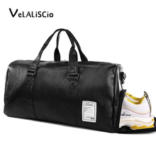 Travel Bag Waterproof Leather Large Capacity Travel Duffle Multifunction Tote Casual Crossbody Bags Men's Black handbag