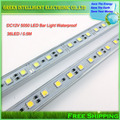 0.5m 36Led  SMD5050 white / warm white color waterproof led bar Light Hard Strip Light Tube DC 12V,1PCS/lot