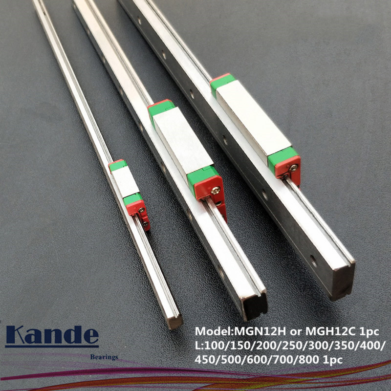 MGN12 CNC 12mm miniatur linear schiene führen MGN12C 700 800mm MGN12H lineare block wagen oder MGN12H schmale wagen