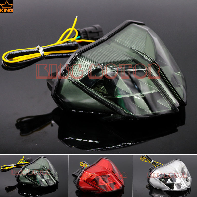 For DUCATI Streetfighter 848 1100 2012 2014 Motorcycle Accessories Integrated LED Tail Light Turn signal Blinker Smoke