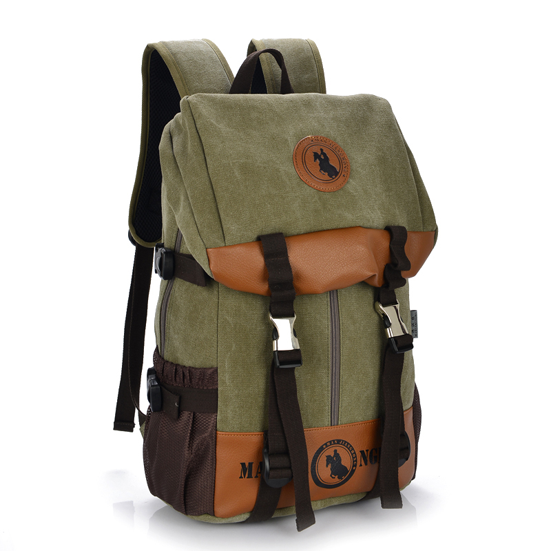Large Capacity Casual Men Women Canvas Backpack Travel Patchwork Leather Laptop Backpack 15 Inch School Bags For Girls Boys 1199 jacodel unisex large capacity backpack for 15 6 inch laptop bag for dell asus 15 6 men 15 6 girls travel back pack school bags