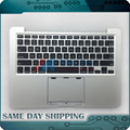 "Original Topcase w/Teclado para Macbook Pro Retina 13 ""A1502 2013 2014 Superior Top Case Palmrest EMC2678 Layout EE.UU. 661-8154/2875"