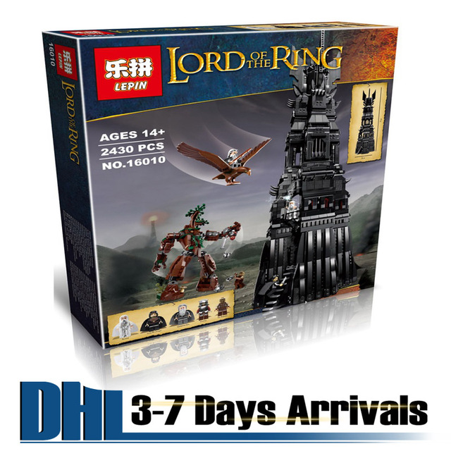 DHL Free Shipping New 2017 Kids Plastic Toys The Lord Of The Rings Tower Building Blocks Educational Puzzle Kits 16010