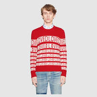 Unisex Man Sweaters Autumn Winter Thick Warm Letter Loved Sweater Women Casual Plus Size Rabbit Velvet