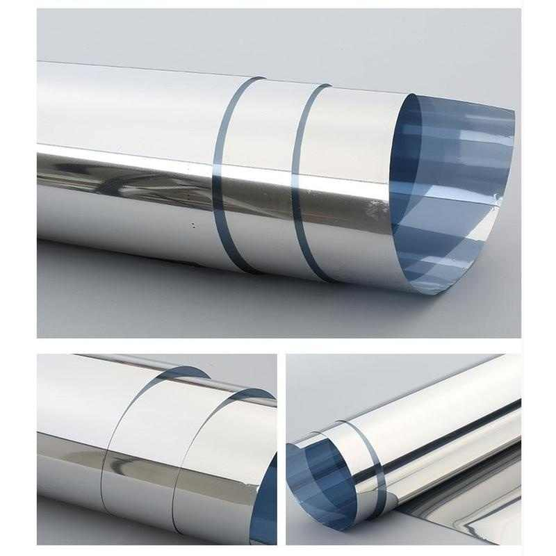 40/50/60 centimetri Larghezza di Un Modo Specchio Privacy Riflessione 15% Tinta Finestra Pellicola A Specchio Adesivi Isolamento Solare riflettente (customizab)