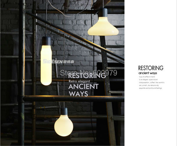 2014 the newest  Fashion  lamp  white  form glass pendant light  (3 piece )  aslo for wholesale