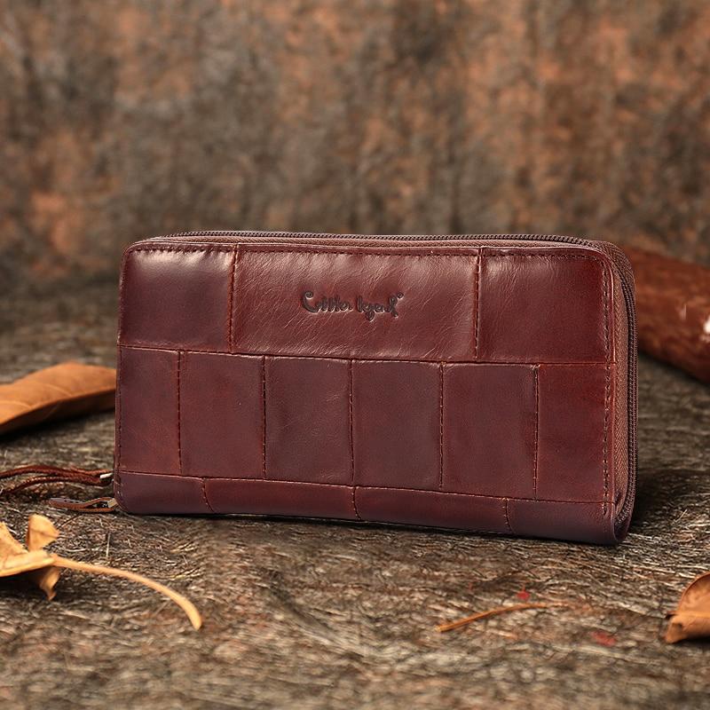 Cobbler Legend Brand Designer Casual Women Wallet Genuine Leather Long Wallet For Ladies Coin Card Purses For Female Coin Pocket Кошелёк