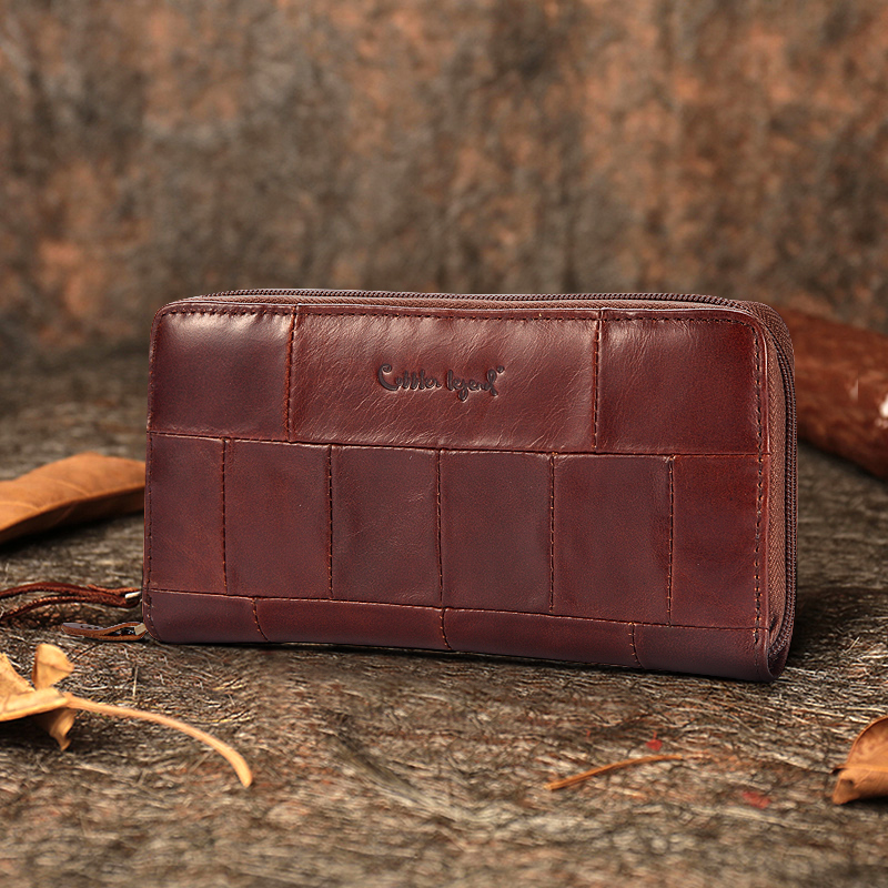 Cobbler Legend Brand Designer Casual Women Wallet Genuine Leather Long Wallet For Ladies Coin Card Purses For Female Coin Pocket