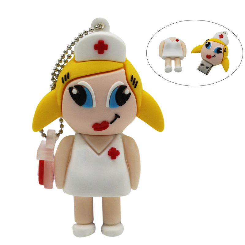 BiNFUL Doctor Nurse Pendrive 4GB 8GB 16GB 32GB 64GB USB 2.0 Memory Pen Drive Stick USB Flash Drives