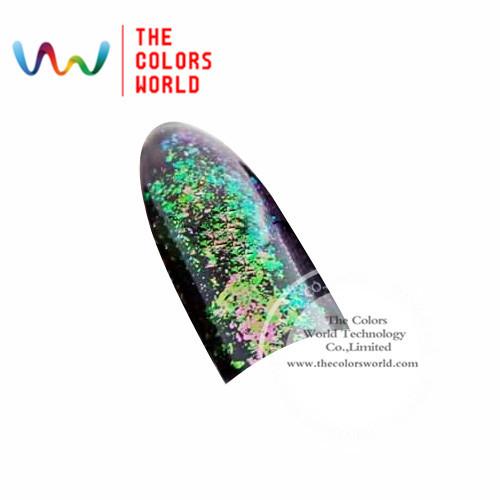 TCWB193 Copos Copos de Efecto Mágico de gran tamaño camaleón Camaleón para el Arte de uñas esmalte de uñas y otros decoración de DIY