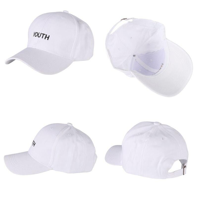 Musim panas Bordir Pemuda Beberapa Topi Wanita Pria Topi Katun Topi Dewasa  Topi baseball Hitam Putih e8f2160c18