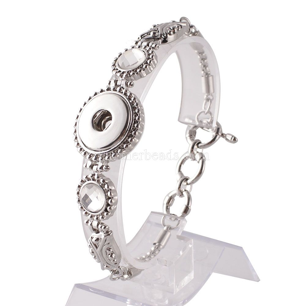 Metal Charm Bracelets: Hot Wholesale Snap Bracelet&Bangles Charms Metal Bracelets