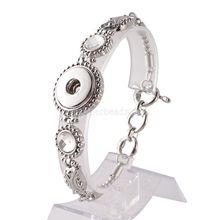 Hot wholesale Snap Bracelet&Bangles Charms Metal Bracelets For Women Fit 18mm DIY Partnerbeads Snap Button Jewelry KC0906