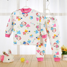 thermal underwear sets baby boy girl kids children clothing 2017 winter cashmere warm clothes full sleeve o-neck character