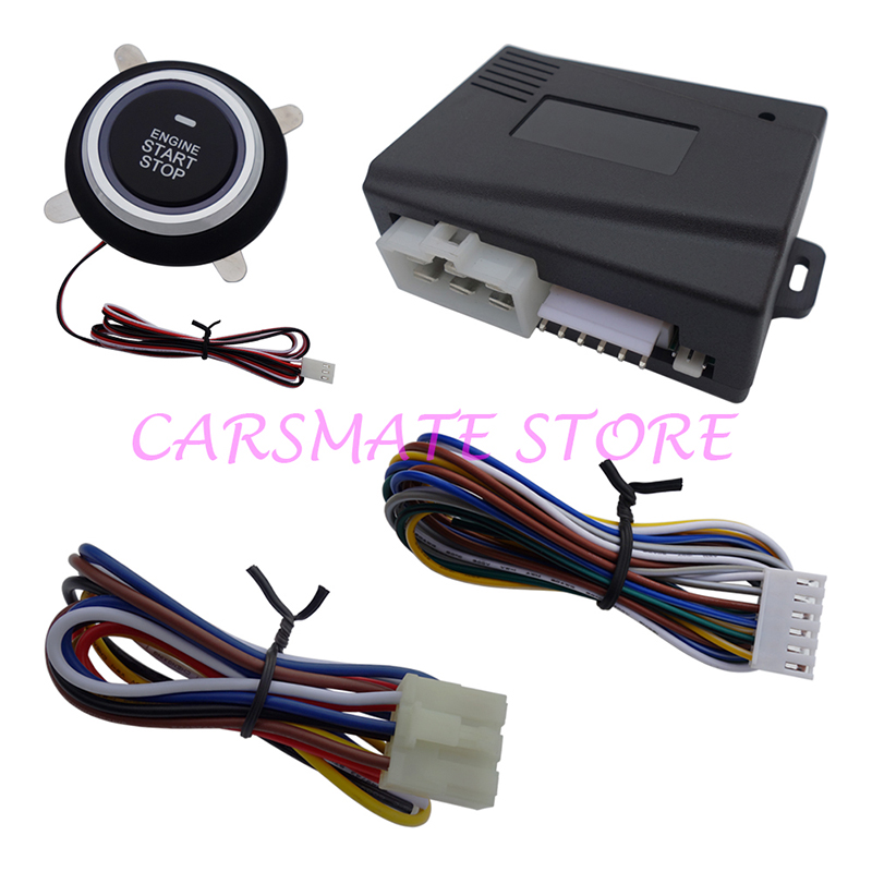Universal Car Engine Start Stop Push Button Module Work with Original Alarm W Remote Start Suitable for 12V Cars Carsmate