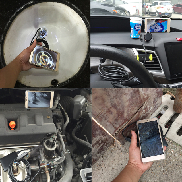 WIFI Endoscope 5.5MM 1M/2M/3M/5M Len 6 LED Waterproof Borescope Inspection Video Videcam Inspection Phone Android IOS Endoscope