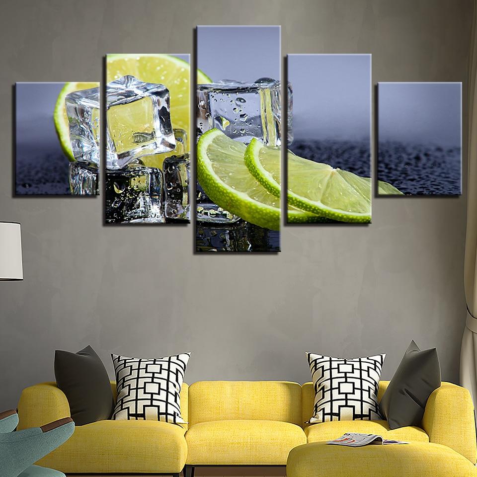 Canvas Prints Pictures Kitchen Wall Art Framework 5 Pieces