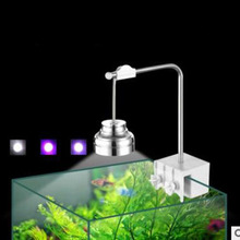 LED small fish tank chandelier clip light water grass tropical turtle cylinder 3w pure aluminum red green blue