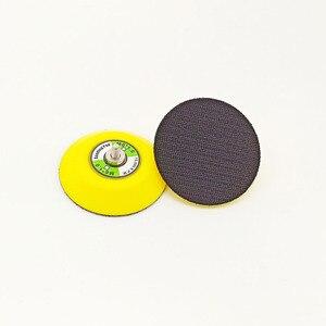 Image 3 - 3 인치 샌딩 패드 연마 디스크 연마 버핑 패드 후원자 플라스틱 후원자 패드 에어 샌더 자동차 폴리 셔
