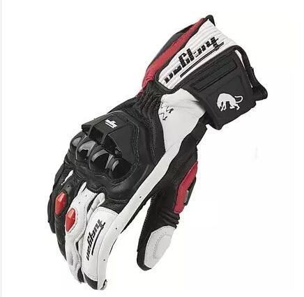 الشحن مجانا حار مبيعات أحدث الموديلات AFS18 دراجة نارية قفازات سباق قفازات قفازات جلد طبيعي
