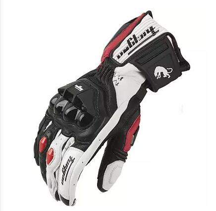 Prix pour Livraison gratuite ventes Chaudes Date modèles AFS18 moto gants racing gants Véritable gants en cuir