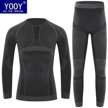 YOOY/Коллекция года, новое зимнее термобелье Детские эластичные дышащие повседневные теплые подштанники с u-образным вырезом для девочек Детский комплект