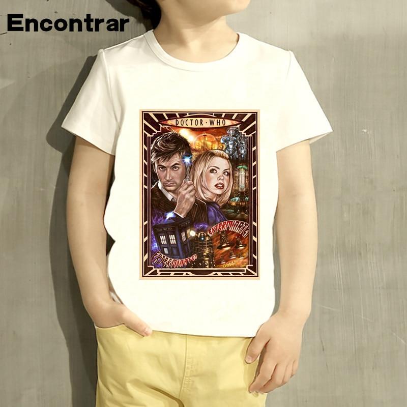 Kid Doctor Who Dr. Who Daleks Exterminat Design Baby Boys/Girl TShirt Kids Funny Short Sleeve Tops Children Cute T-Shirt,HKP4115