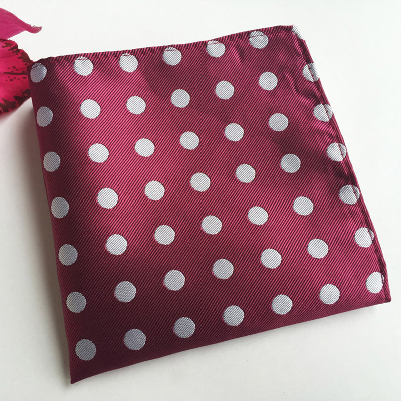 Mantieqingway Brand Tie Handkerchief For Wedding Polyester Polka Dot Pocket Squares Fashion Colorful Dots Men Handkerchiefs