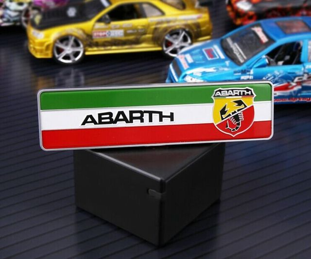 3D ABS Car Auto Italy flag Abarth Badge Decals Emblem Fender ...