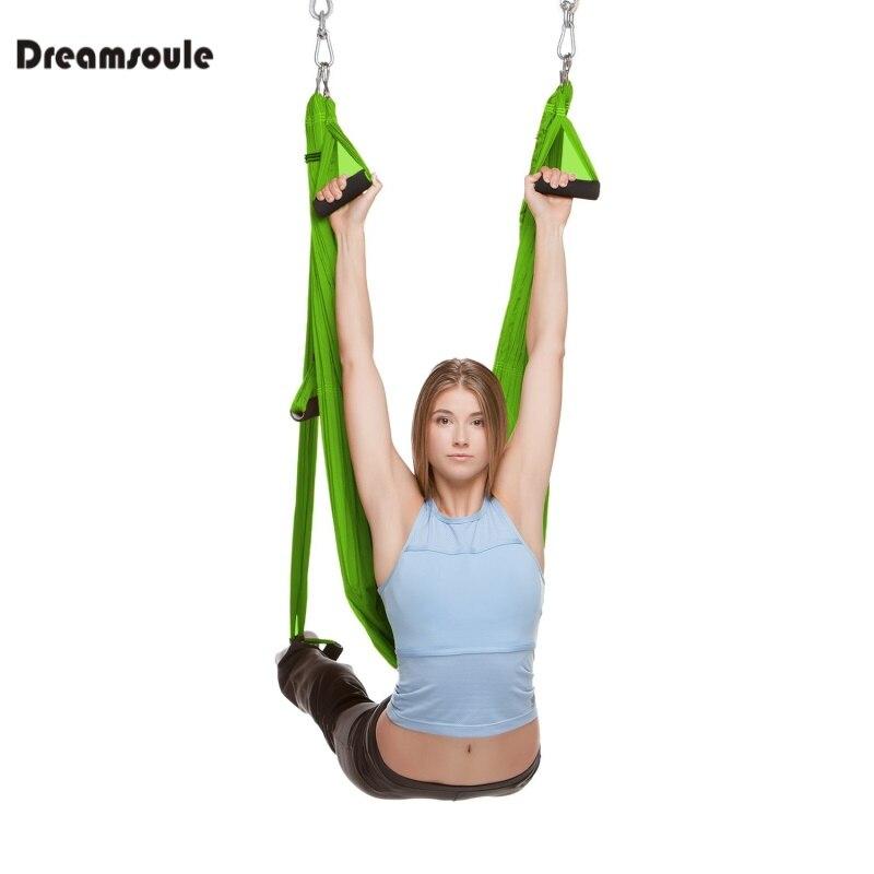 DREAMSOULE Antigravità Aerea Yoga Swing Trapezio Amaca Fionda Body Building Strumento Anti-gravity Yoga Esercizio Swing Trapezio