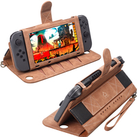 Portable Leather Case for Nintend Switch Console NS Protective Cover Carry Storage Bag for Nintendo Controller Stand Accessories