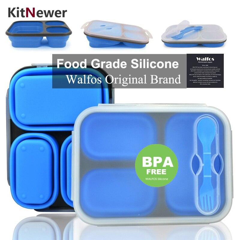 Tragbare Lunchbox Silicon Collapsible Microwelle Lunchbox Bento - Küche, Essen und Bar - Foto 1