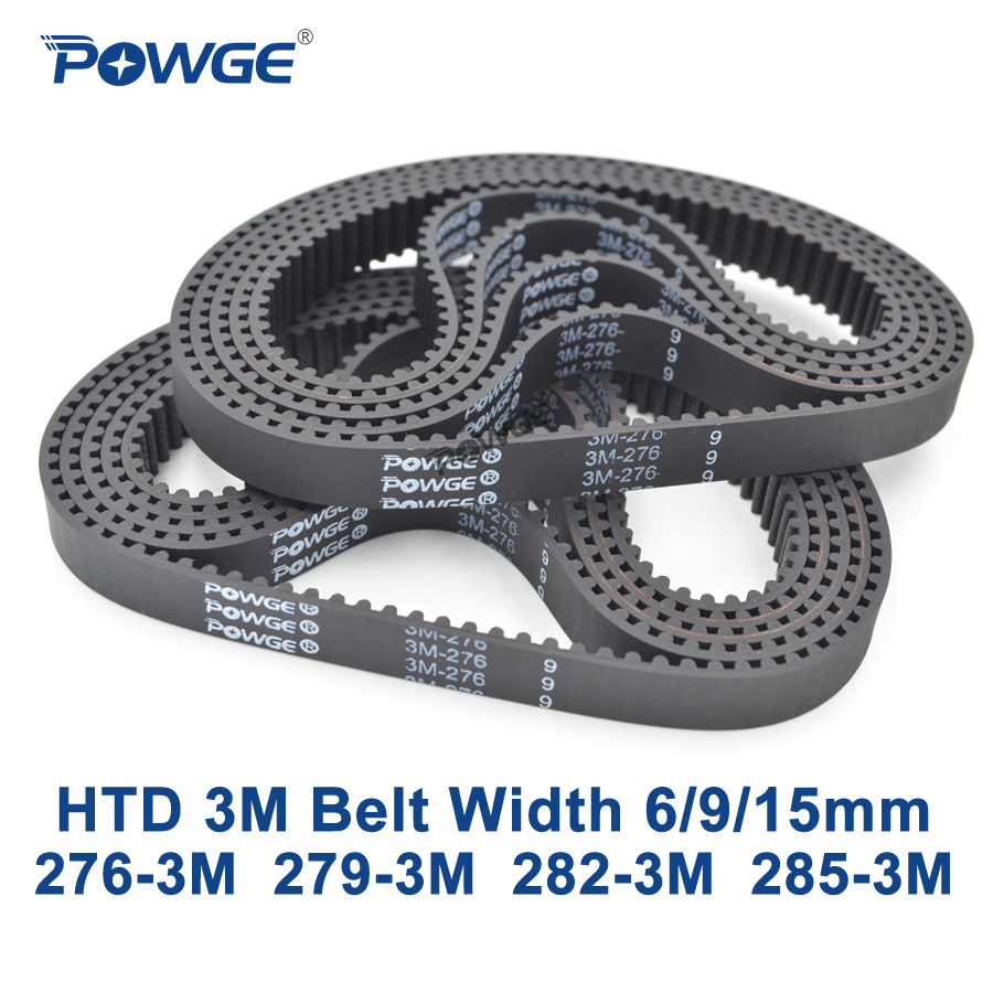 POWGE Arc HTD 3M Timing belt C= 276 279 282 285 width 6/9/15mm Teeth 92 93 94 95 HTD3M synchronous 276-3M 279-3M 282-3M 285-3M powge arc htd 3m timing belt c 264 267 270 273 width 6 9 15mm teeth 88 89 90 91 htd3m synchronous 264 3m 267 3m 270 3m 273 3m