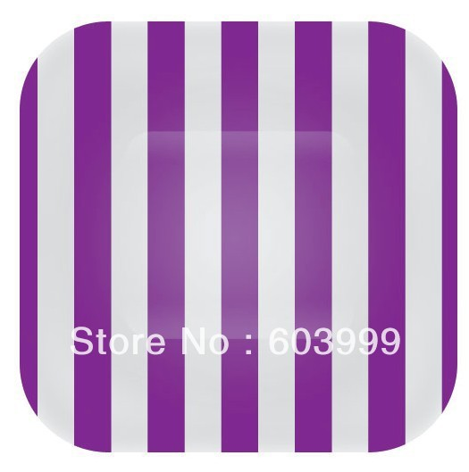 18.5cm 7 inch Square Purple and White Candy Stripe Paper Party plates 12 premium quality  sc 1 st  AliExpress.com & 18.5cm 7 inch Square Purple and White Candy Stripe Paper Party ...