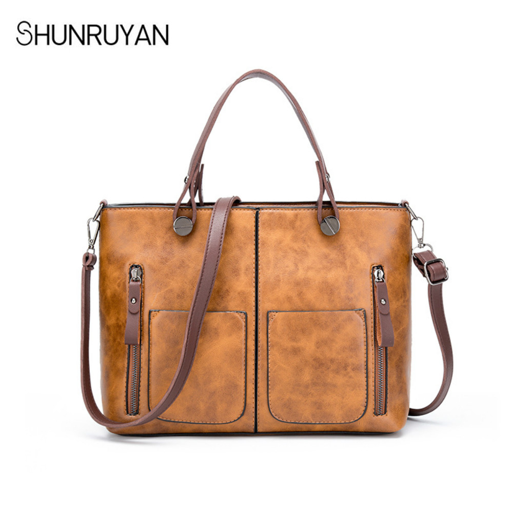 27de6ee1fa SHUNRUYAN Fashion Bag Leather Ladies HandBags Large Capacity Todd Bag  Genuine Messenger Bags Hign Quality Designer Luxury Brand-in Clutches from  Luggage ...