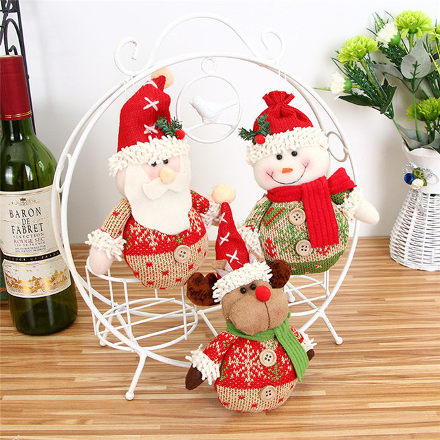 christmas ornaments gift santa claus snowman reindeer toy doll hang decorations wholesale free shipping 30ri27 - Wholesale Christmas Decorations
