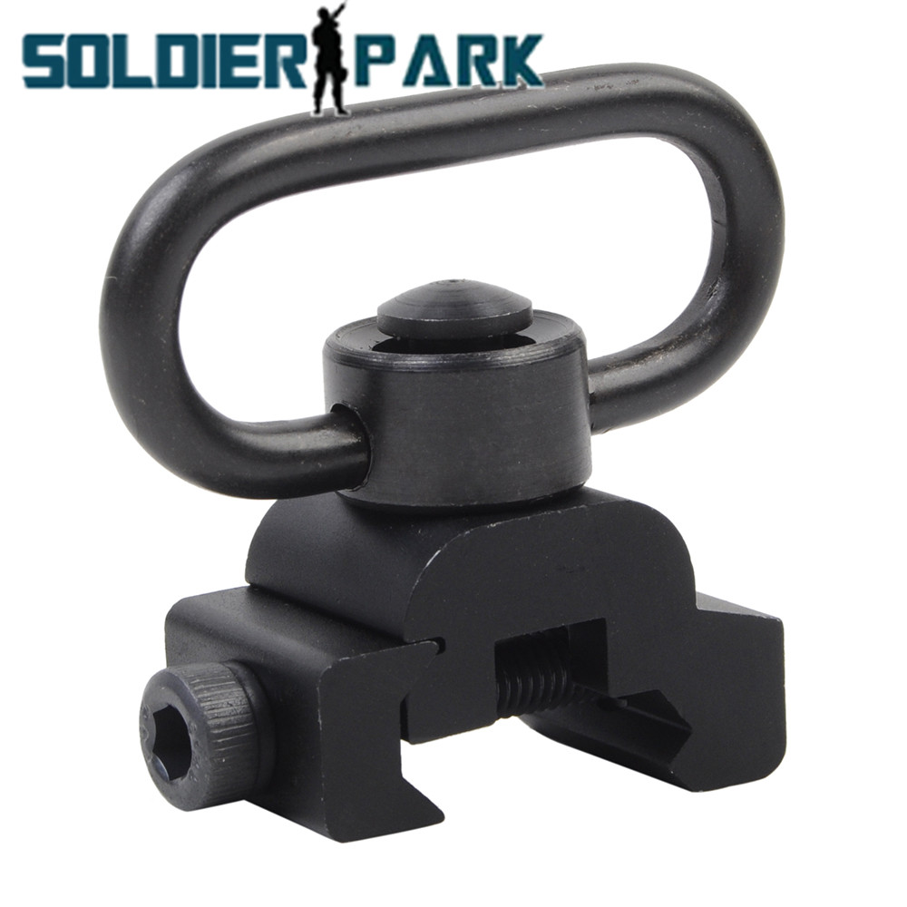5 Unids/pack Rifle Quick Release Sling Swivel con 20mm Montaje En Carril Picatin