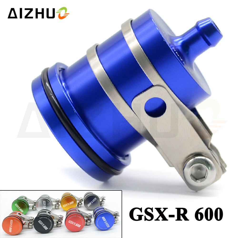 FOR SUZUKI GSXR600 2004 05 06 07 2008-2016 Motorcycle Oil Cup Brake Fluid Reservoir Clutch Tank Oil Fluid Cup With GSXR600 LOGO