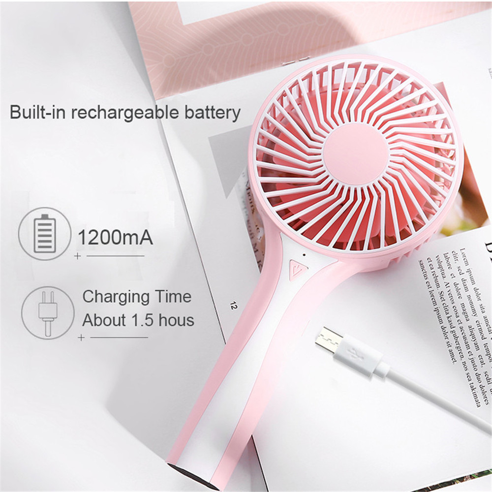 Portable Handheld Rechargeable Foldable Mini USB Fan Air Cooler Air Conditioning Fans Cooling Fan Battery (2)