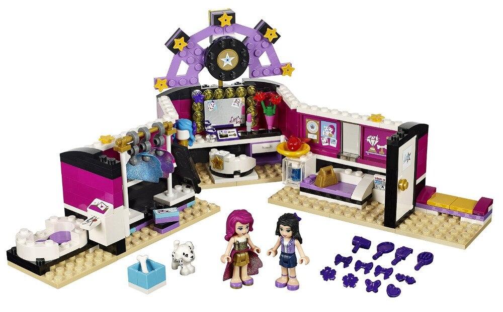 BELA Friends Series Pop Star Dressing Room Building Blocks Classic For Girl Kids Model Toys Marvel Compatible Legoe new bela friends series girls princess jasmine exotic palacepanorama minifigures building blocks girl toys