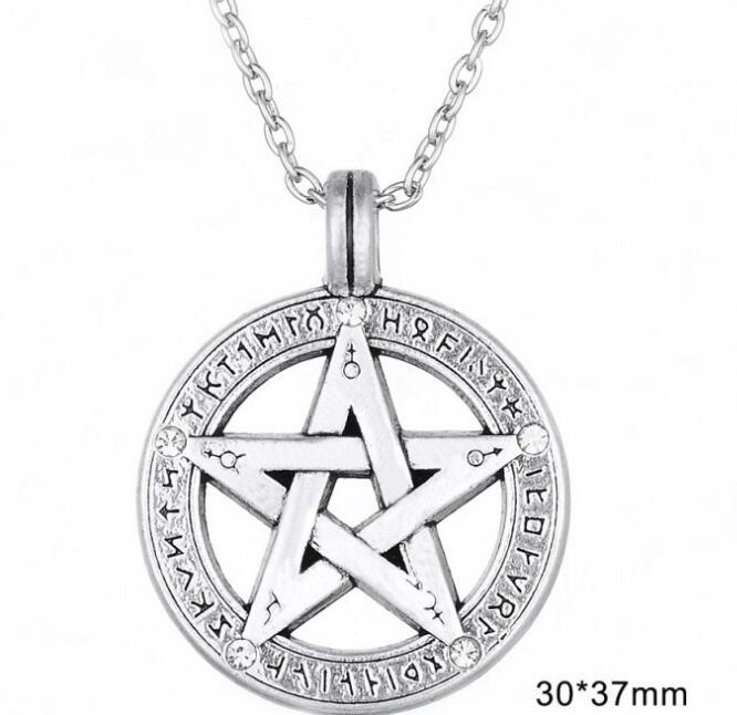 Pentagramme pentacle pendentif amulette gothique Magie Wicca sorci/ères Pentagram