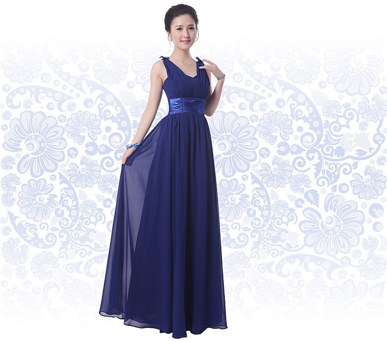 prom dresses 2015 plus size women Long Bridesmaid Dresses royal blue ...