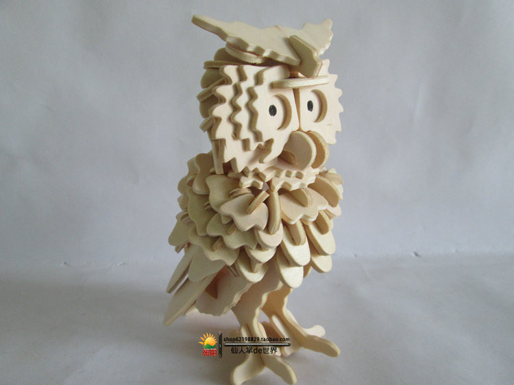 Building & Construction Toys 3d Wooden Owl Puzzle Jigsaw Woodcraft Toy Model Diy Construction Blocks Hot Sale Punctual Timing