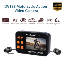купить 2.7 LCD DV188 Blueskysea Motorcycle Sports Camera Waterproof Dual Lens Dash Cam HD Moto Camera 1080P Video DVR G-sensor дешево