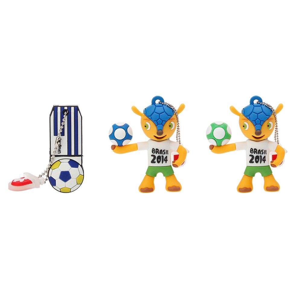 Image 5 - Memory Stick Brazil World Cup Mascot Cartoon USB Flash Drive 4GB 8GB 16GB 32GB 64GB Pen Drive 128GB Usb 2.0 Pendrive Thumbdrives-in USB Flash Drives from Computer & Office