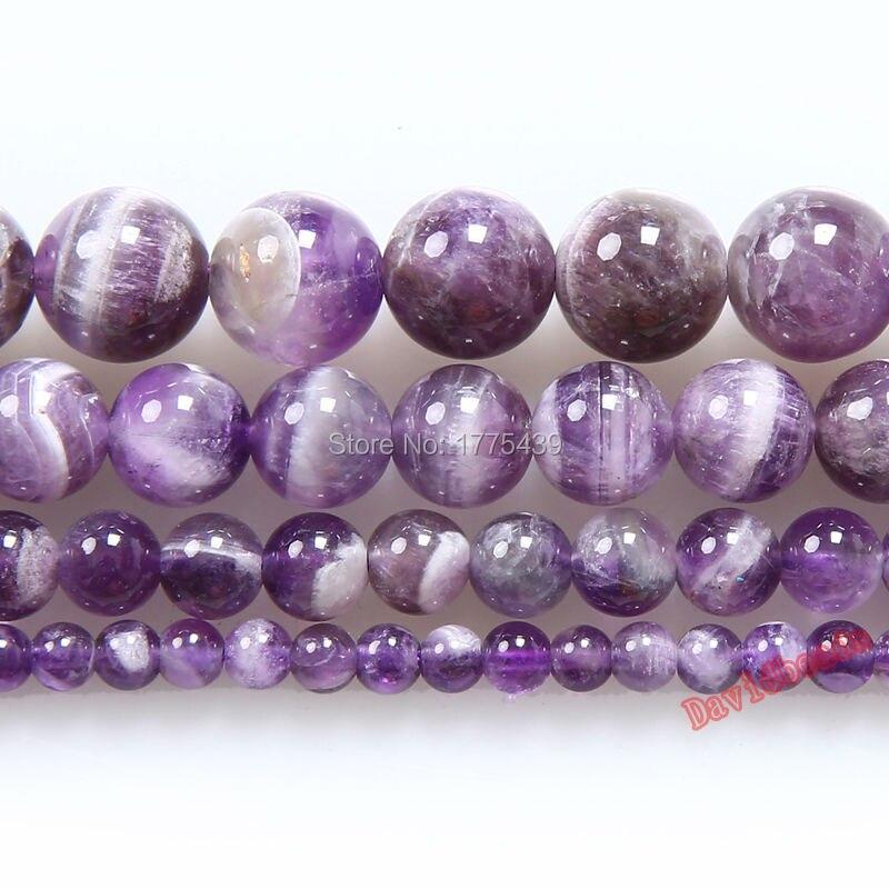 Круглые аметистые разноцветные аметисты, круглые шарики из натурального камня, 6, 8, 10, 12 мм, браслет «сделай сам», ожерелье для изготовления ювелирных изделий, заводская цена