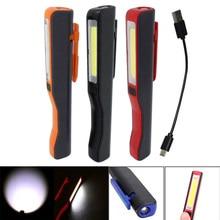 Новые мини удара светодиодный свет пера клип магнит USB Перезаряжаемые работы факел фонарик лампы-M25