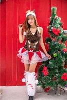 New 2018 Christmas Costume For Cosplay Reindeer Santa Suit Adult Female Skirt Japan And South Korea